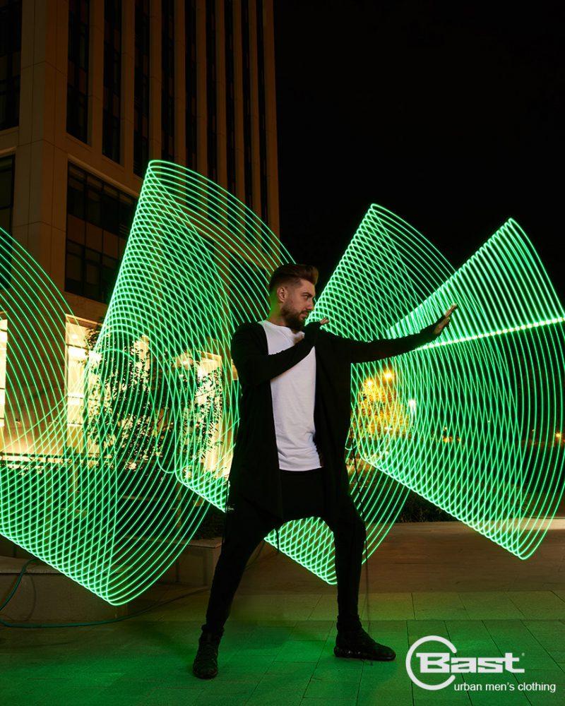 Efect de lumina verde - led