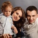 familie de trei