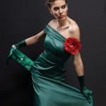model in rochie verde