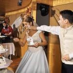 tortul de nunta ajunge si pe fata